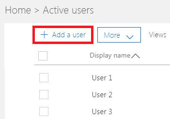 Office 365 - Add a User