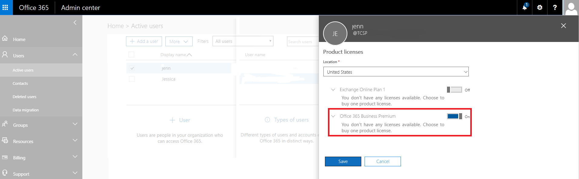 Office 365 Remove License Step 6