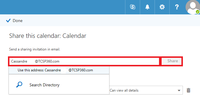 Share Calendar Outside Organization Exchange : Share office calendar securely within your organization