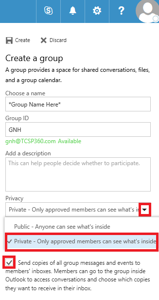 Office 365 Creating A Contact Group Step 8 Part 2