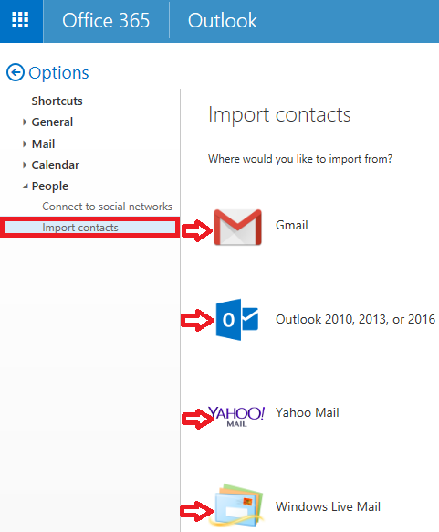 Import Mail: Import Contacts From Another Email Account