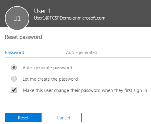 Office 365 Reset Password Screen