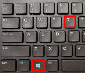 Windows Key + R Key