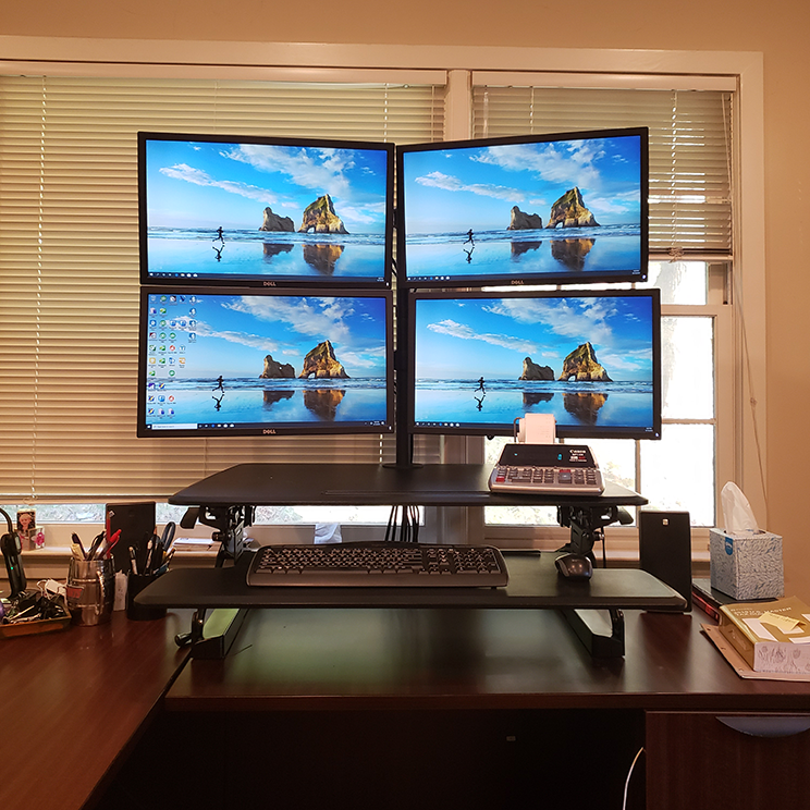 4 Monitor Computer Setup for CPA